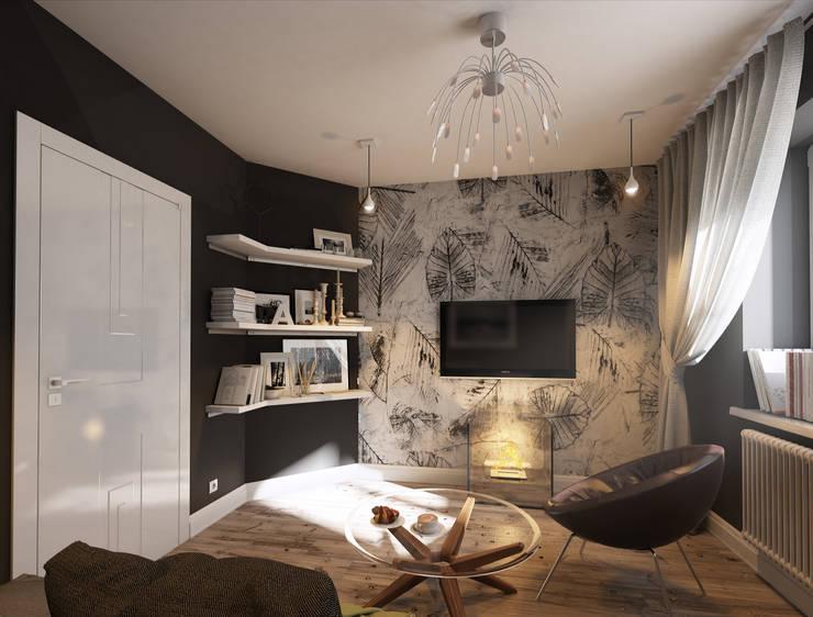 Дизайн проект квартиры: Гостиная в . Автор – MONTE FEE INTERIOR DESIGN STUDIO