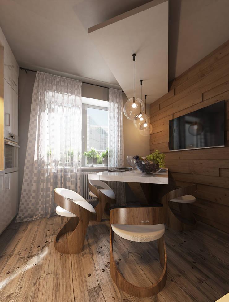 Дизайн проект квартиры: Кухни в . Автор – MONTE FEE INTERIOR DESIGN STUDIO
