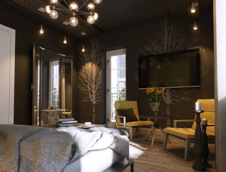Дизайн проект квартиры: Спальни в . Автор – MONTE FEE INTERIOR DESIGN STUDIO