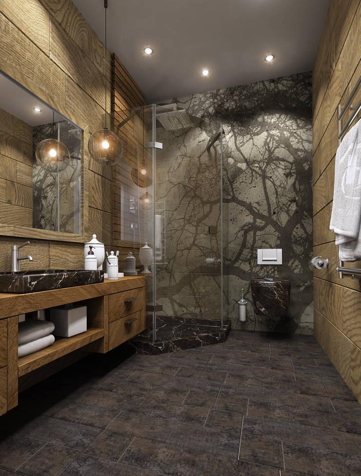 Дизайн проект квартиры: Ванные комнаты в . Автор – MONTE FEE INTERIOR DESIGN STUDIO