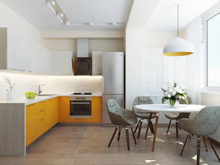 Квартира однокомнатная: Кухни в . Автор – Оксана Мухина