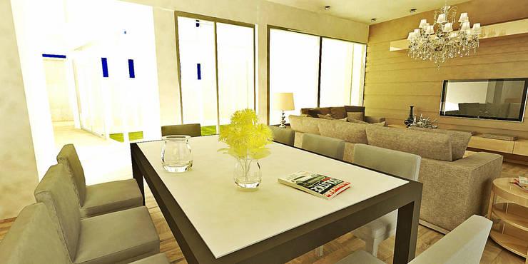 Casa Olivos: Livings de estilo  por FRANCISCO BRUN ARQUITECTURA