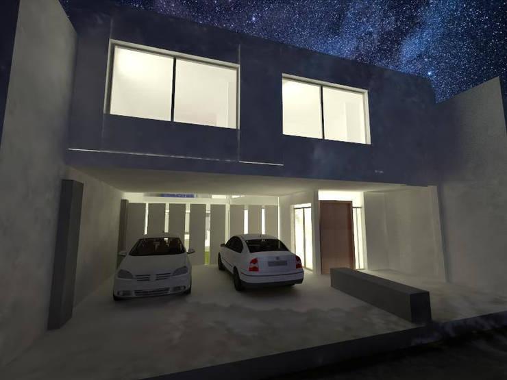 Casa Olivos: Casas de estilo  por FRANCISCO BRUN ARQUITECTURA