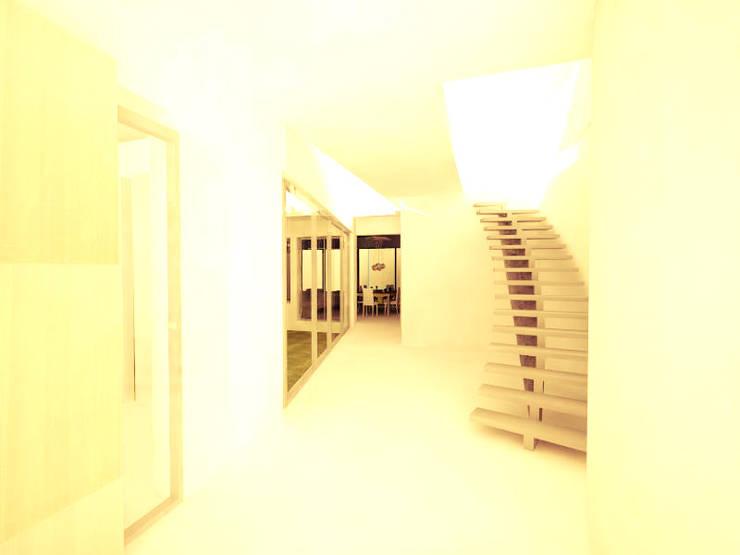 Casa Olivos: Pasillos y recibidores de estilo  por FRANCISCO BRUN ARQUITECTURA