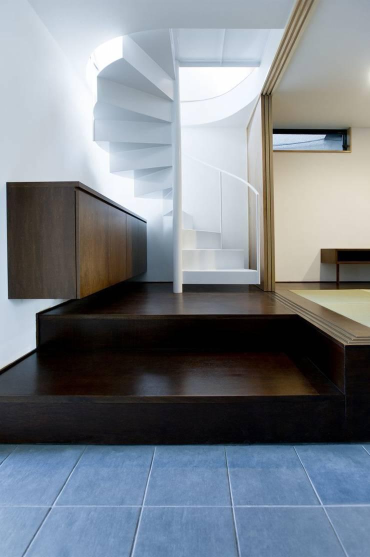 TKGA 照国町の光を取り込む家: 太田則宏建築事務所が手掛けた廊下 & 玄関です。