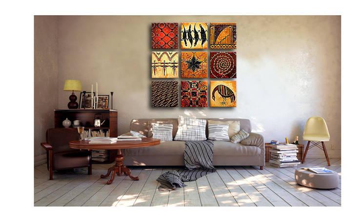 Bimago Wandbild:  Wohnzimmer von Bimago