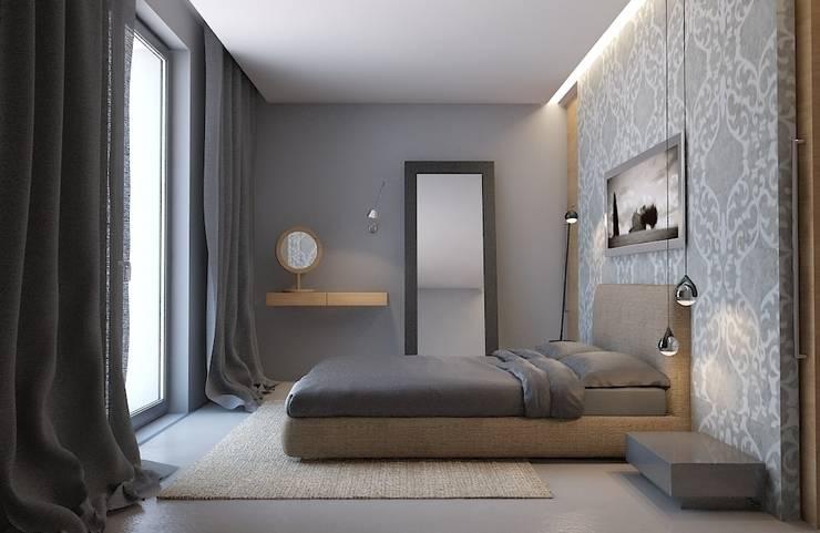 Projekt wnętrz domu pod krakowem: styl , w kategorii Sypialnia zaprojektowany przez MOCOLOCCO,