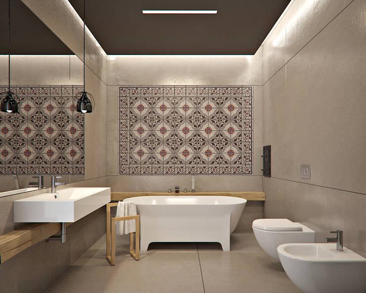 Projekt wnętrz domu pod krakowem: styl , w kategorii Łazienka zaprojektowany przez MOCOLOCCO,