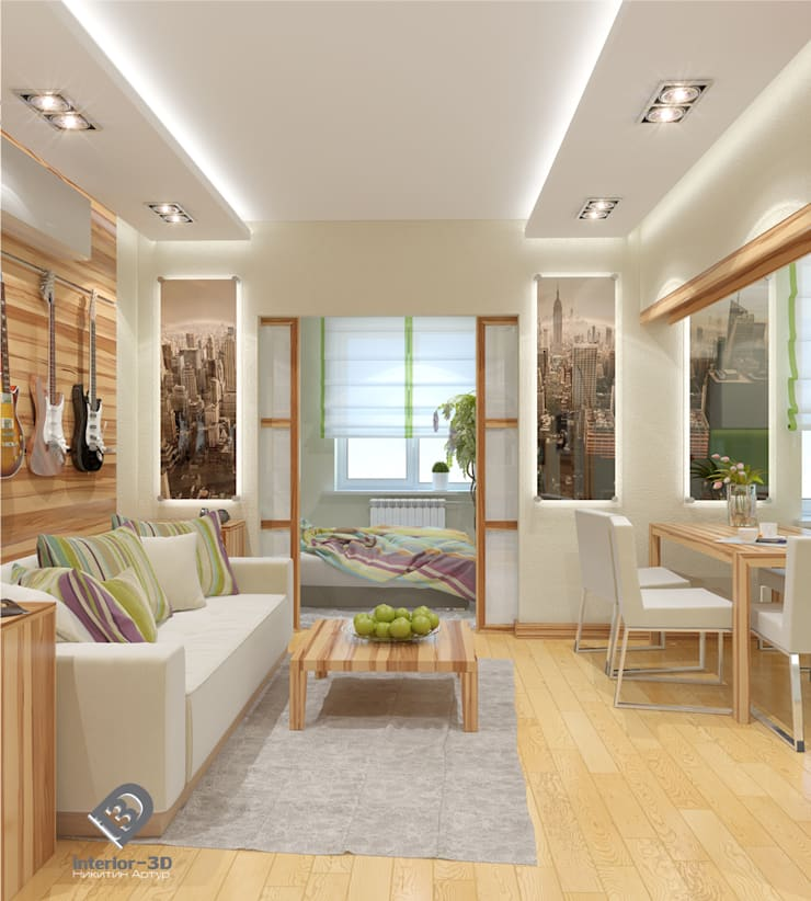 Ruang Keluarga Modern Oleh Никитин Артур Modern