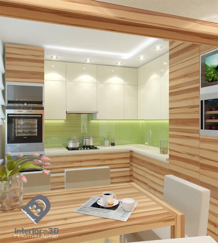 Дизайн интерьера квартиры на Фрунзенской набережной в Москве: Кухни в . Автор – Никитин Артур