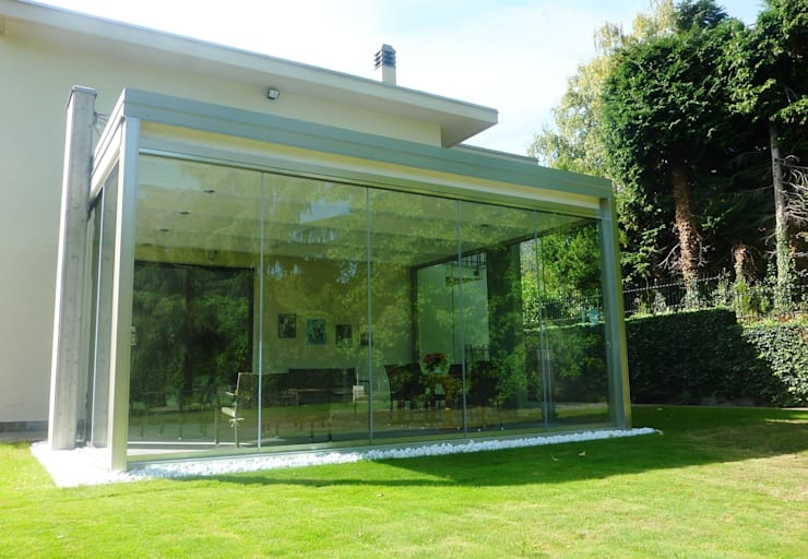 minimalistic Conservatory by Le Verande srls