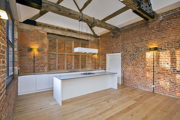 Bewsey Old Hall:  Kitchen by Pearson Architects
