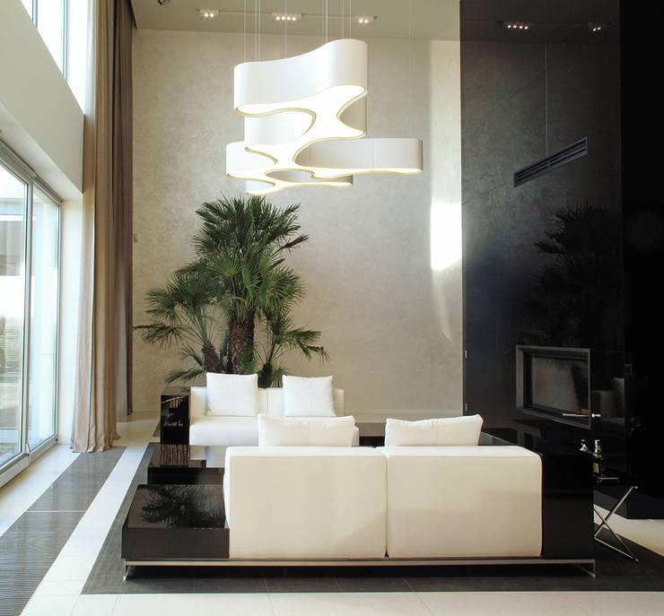 DOM ZI: styl , w kategorii Salon zaprojektowany przez MACIEJ JANECZEK ARCHITEKT
