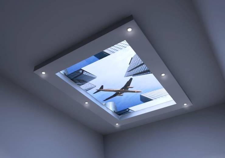 Świecący sufit: styl , w kategorii Sypialnia zaprojektowany przez Visual Design,Nowoczesny