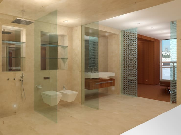 Офис: Ванные комнаты в . Автор – Лаборатория дизайна интерьера