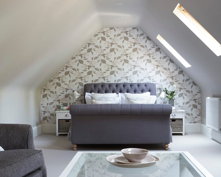 A House On The River: country Bedroom by Emma & Eve Interior Design Ltd