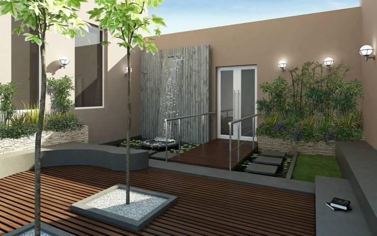 Interiores: Jardines de estilo  por Constructora Argentina S.R.L.