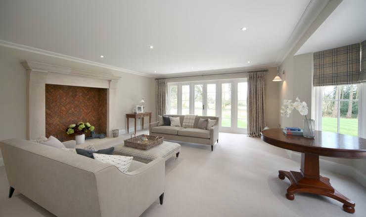 Salas / recibidores de estilo  por Emma & Eve Interior Design Ltd, Rural