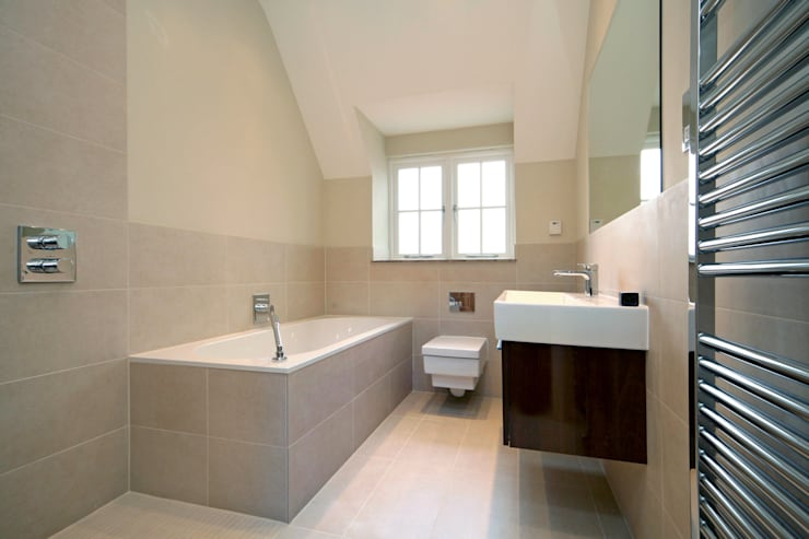 A Country Home: modern Bathroom by Emma & Eve Interior Design Ltd