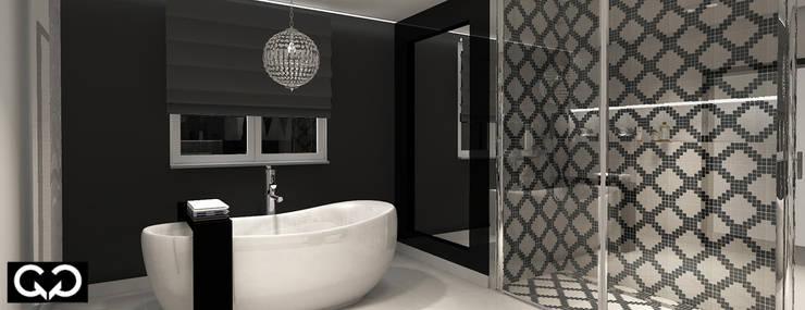 Łazienka : styl , w kategorii  zaprojektowany przez Studio QQ