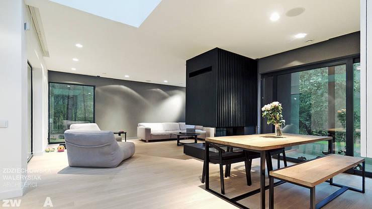 M - house: styl , w kategorii Salon zaprojektowany przez zwA Architekci