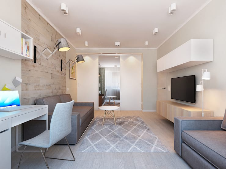 Salas de estar  por Ekaterina Donde Design