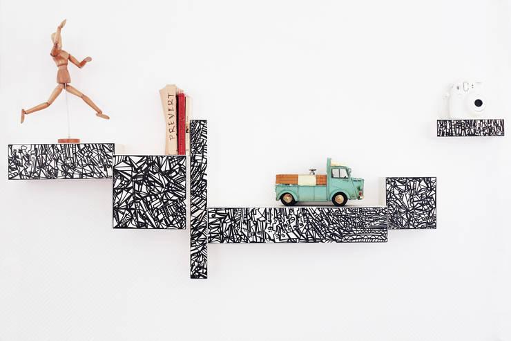 Projekty,  Salon zaprojektowane przez Wooded