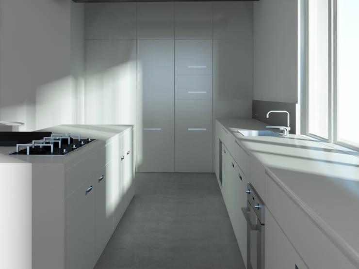 Loft L 01: Cuisine de style de style Moderne par 2&1