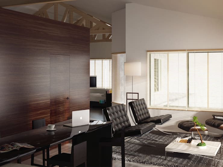 Loft L 01: Salon de style de style Moderne par 2&1