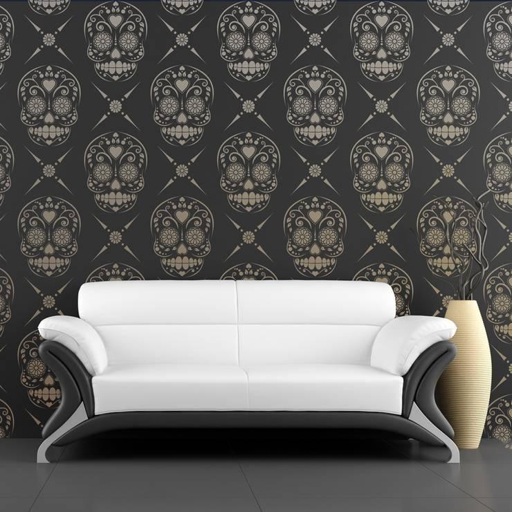 Pareti & Pavimenti in stile in stile Moderno di Stencil Up