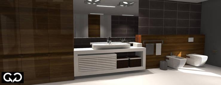 Łazienka: styl , w kategorii  zaprojektowany przez Studio QQ