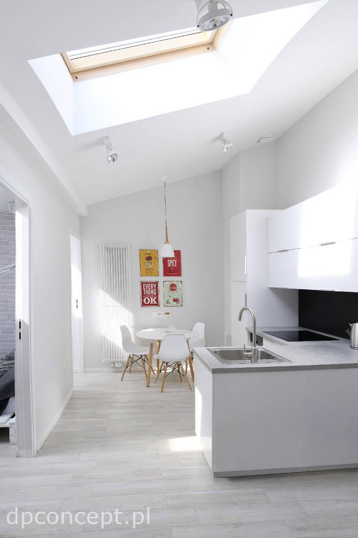 Kuchnia w części wspólnej: styl , w kategorii Kuchnia zaprojektowany przez DP Concept,Skandynawski