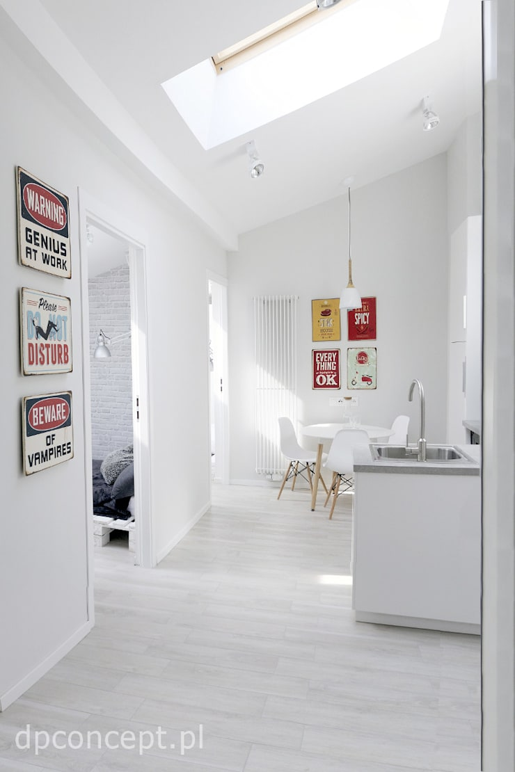Kuchnia z jadalnią: styl , w kategorii Kuchnia zaprojektowany przez DP Concept,Skandynawski