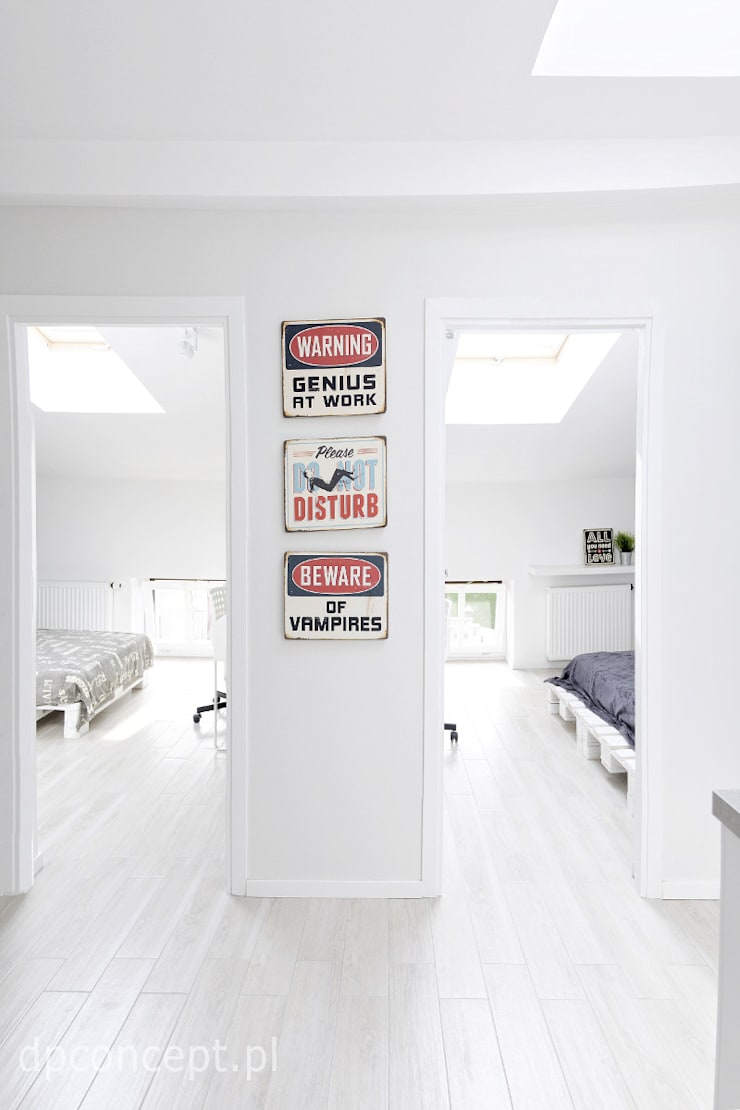 Skandinavischer Flur, Diele & Treppenhaus von DP Concept Skandinavisch