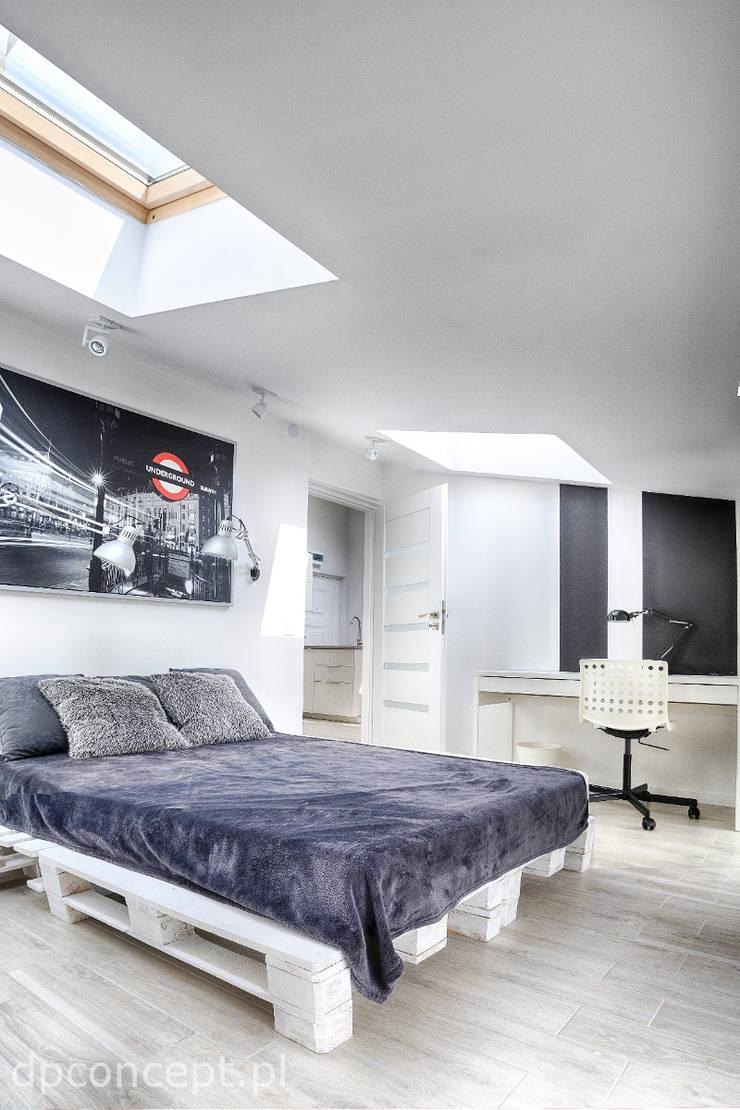 Pokój studenta : styl , w kategorii Sypialnia zaprojektowany przez DP Concept,Skandynawski