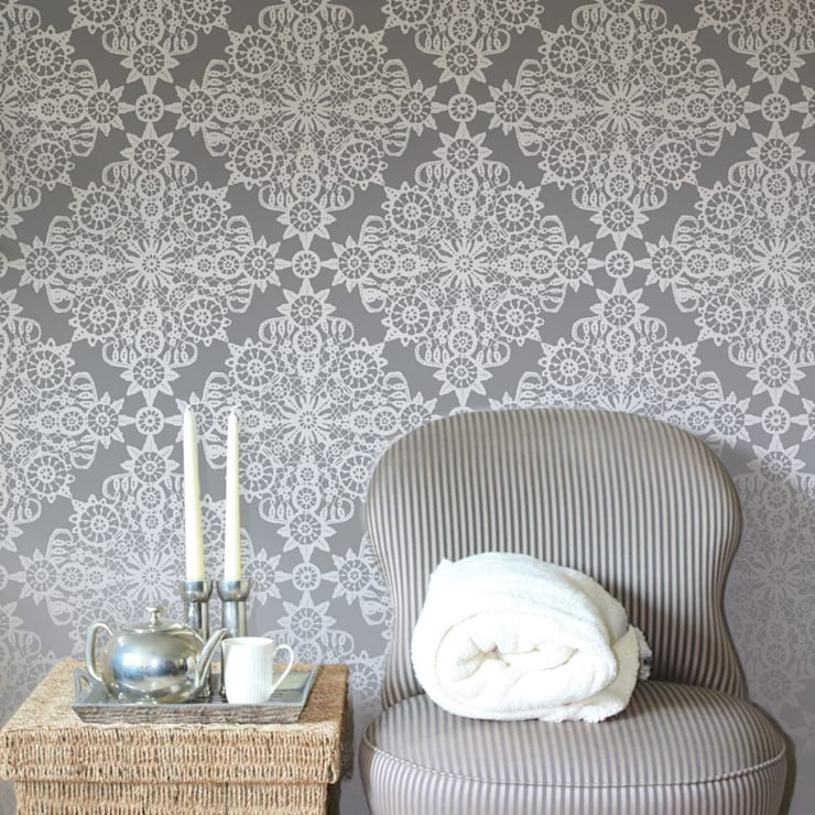 Vintage Lace Wall Stencils By Stencil Up Homify