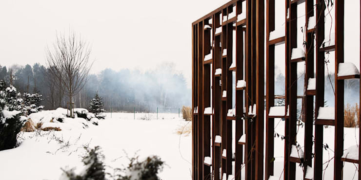 pergola: styl , w kategorii  zaprojektowany przez Autorska Pracownia Architektury Krajobrazu Jardin
