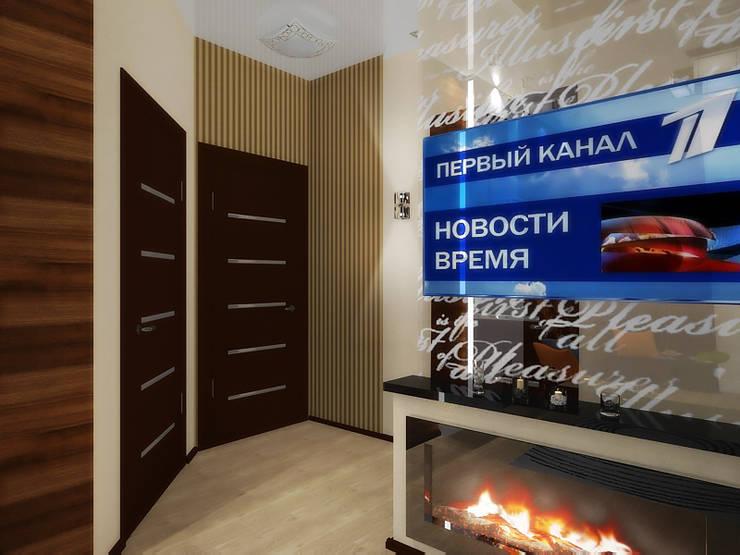 Студия: Гостиная в . Автор – ПРОЕКТНАЯ СТУДИЯ Ирины Щуровой ДОМ
