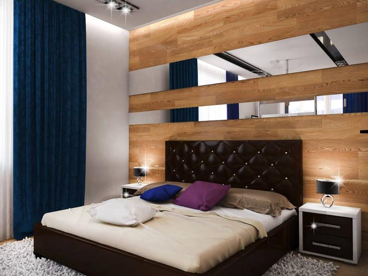 Спальня - Вариант 1: Спальни в . Автор – ПРОЕКТНАЯ СТУДИЯ Ирины Щуровой ДОМ