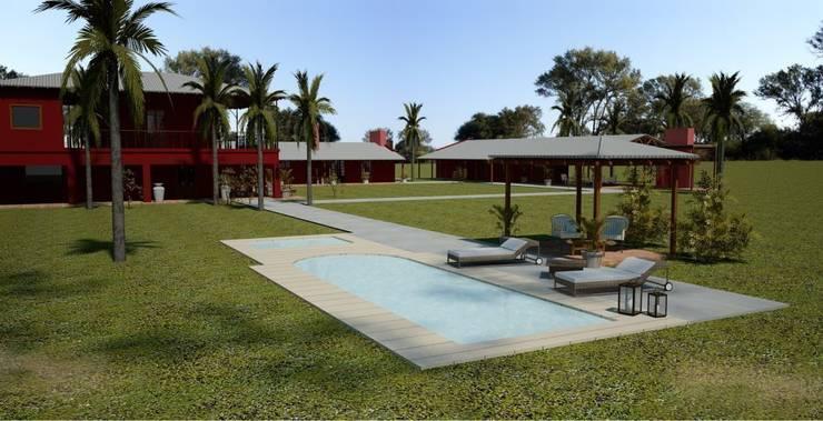 Remodelacion Casco ELA2011: Casas de estilo  por ARQUITECTO MANCUELLO