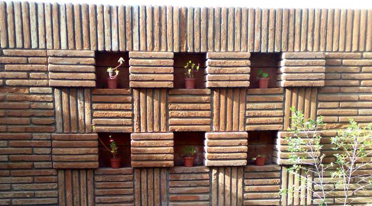 casa 1050: Jardines de estilo  por Hussein Garzon arquitectura