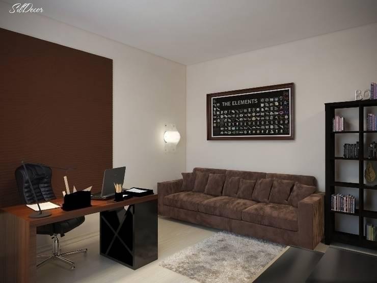 Дизайн интерьера кабинета квартиры в м-он Чистый.: Рабочие кабинеты в . Автор – Студия Поминовой Анны