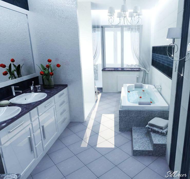 Дизайн интерьера ванной комнаты квартиры в м-он Чистый.: Ванные комнаты в . Автор – Студия Поминовой Анны