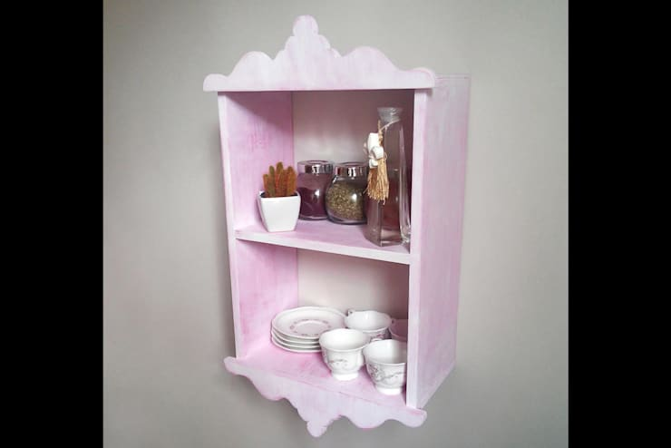 Pons Home Design – Pembe Mutfak Rafı:  tarz , Klasik
