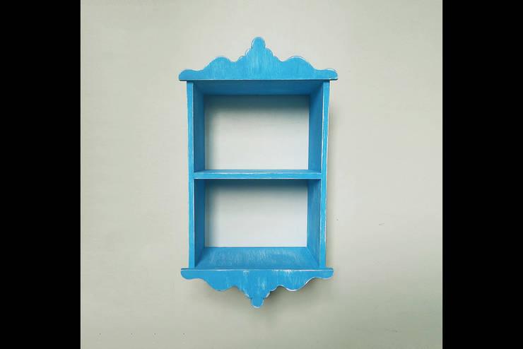Pons Home Design – Mavi Mutfak Rafı:  tarz Mutfak