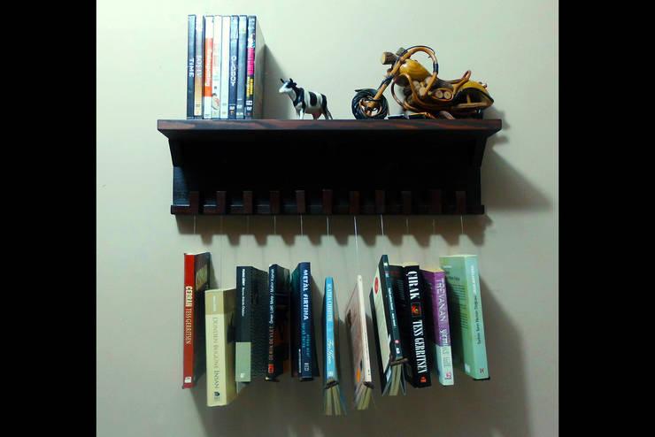 Pons Home Design – Yaratıcı Kitaplık: rustik tarz tarz Çalışma Odası