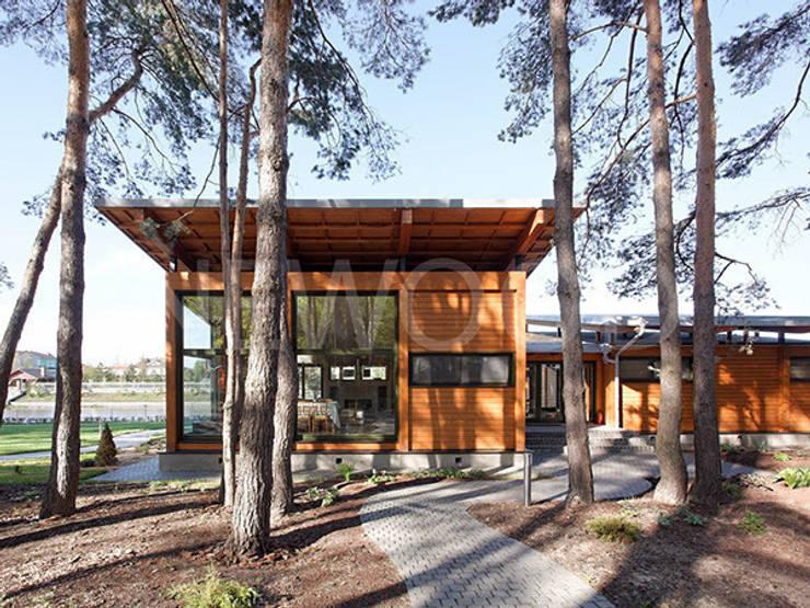 Casas de estilo  por NEWOOD - Современные деревянные дома