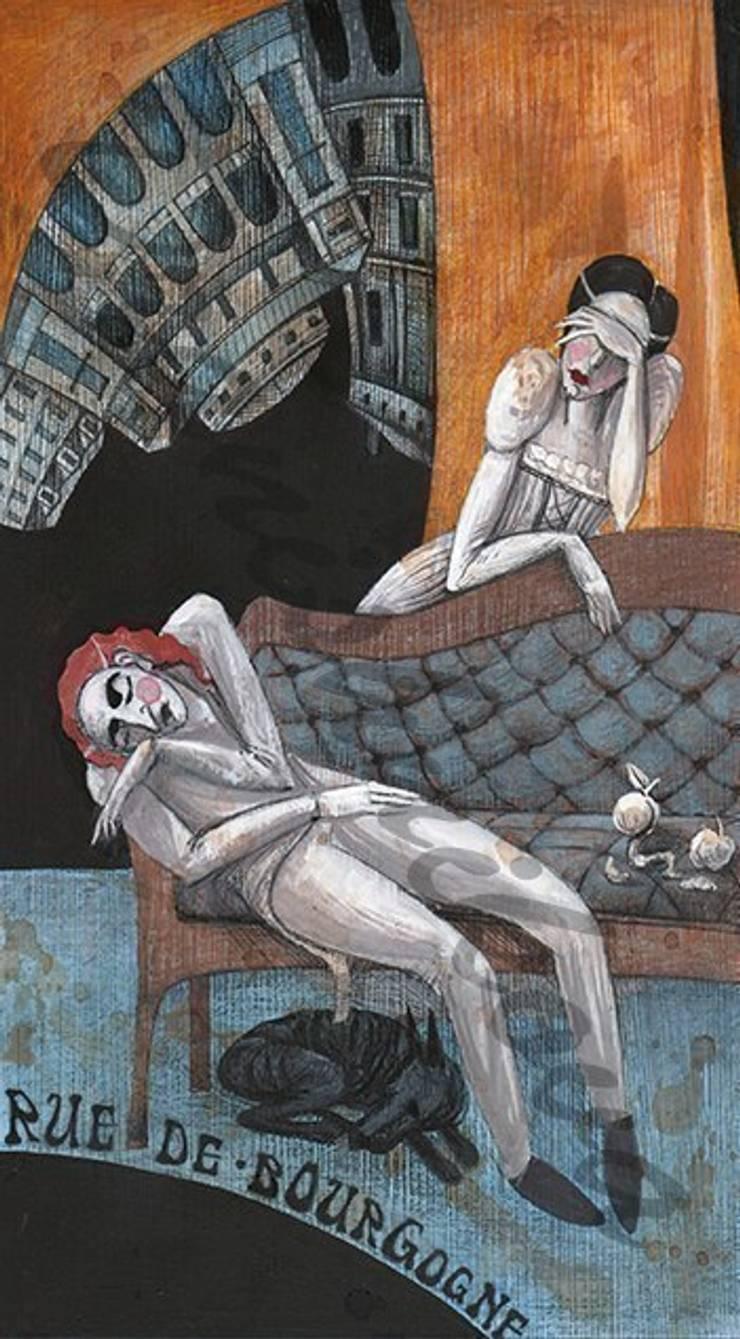 Сцены из жизни богемы: Произведения искусства в . Автор – Dariya Dranishnikova