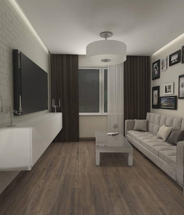 Вид на зону отдыха: Гостиная в . Автор –  Pure Design,