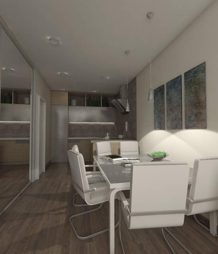 Рабочая и кухонная зона: Кухни в . Автор –  Pure Design,